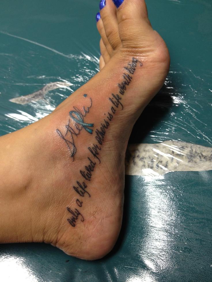 Tattoo Ribbons Quotes Quotesgram