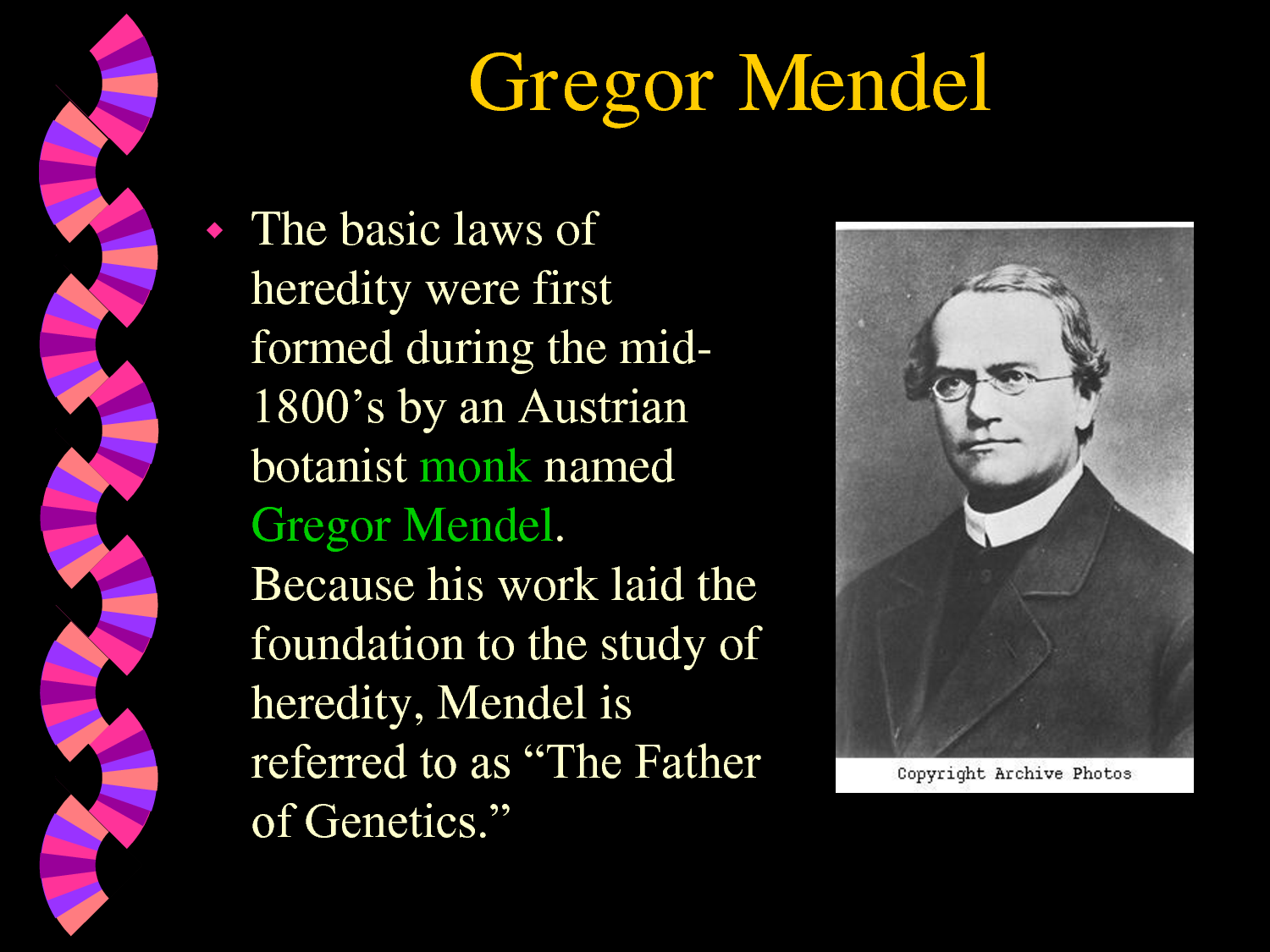 gregor mendel's experiments and the inheritance Module 2 | blueprint of life focus 2: gregor mendel's experiments helped advance our knowledge of the inheritance of characteristics lesson 1 | mendel's experiments.