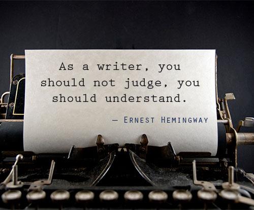 Help on writing hemingway