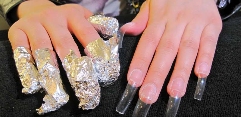 how to take off fake gel nails