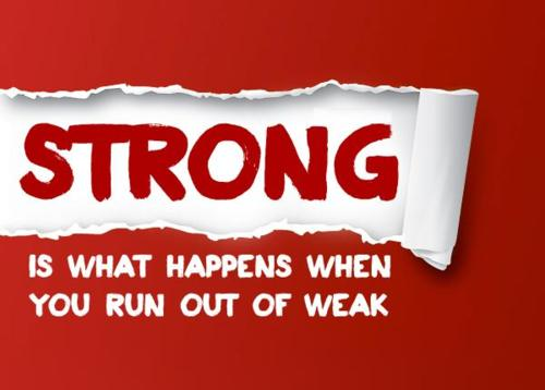 Be Strong When You Are Weak Quote: Exercise Quotes On Strong And Weak. QuotesGram