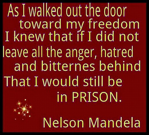 Quotes About Bitterness: Quotes From Mandela About Resentment. QuotesGram