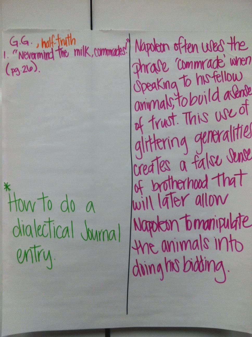 animal farm dialectic journal essay