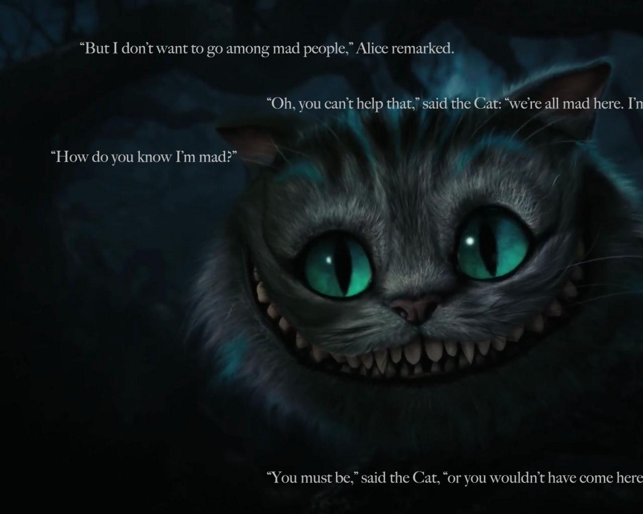 Alice In Wonderland Cheshire Cat Tattoo: Cheshire Cat Alice In Wonderland Quotes. QuotesGram