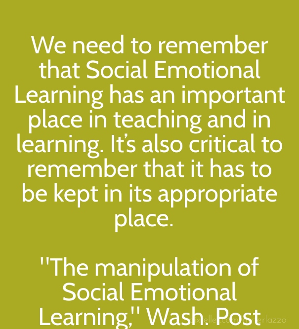 social and emotional learning essay Social and emotional competence is the ability to understand, manage, and express the social and emotional aspects of one's life in ways that enable the successful management of life tasks such as learning, forming relationships, solving everyday problems, and adapting to the complex demands of growth and development.