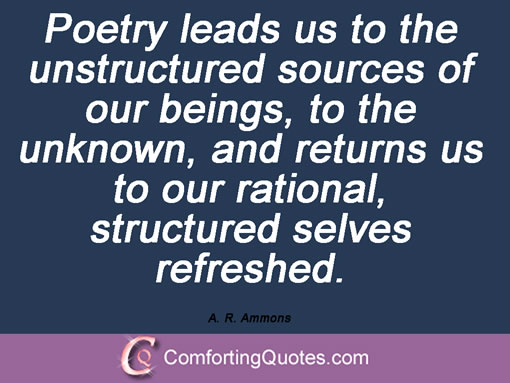 a r ammons essay on poetics Critical essays on a r ammons description : a r ammons and the poetics of widening scope explores the full range of ammons's poetry.