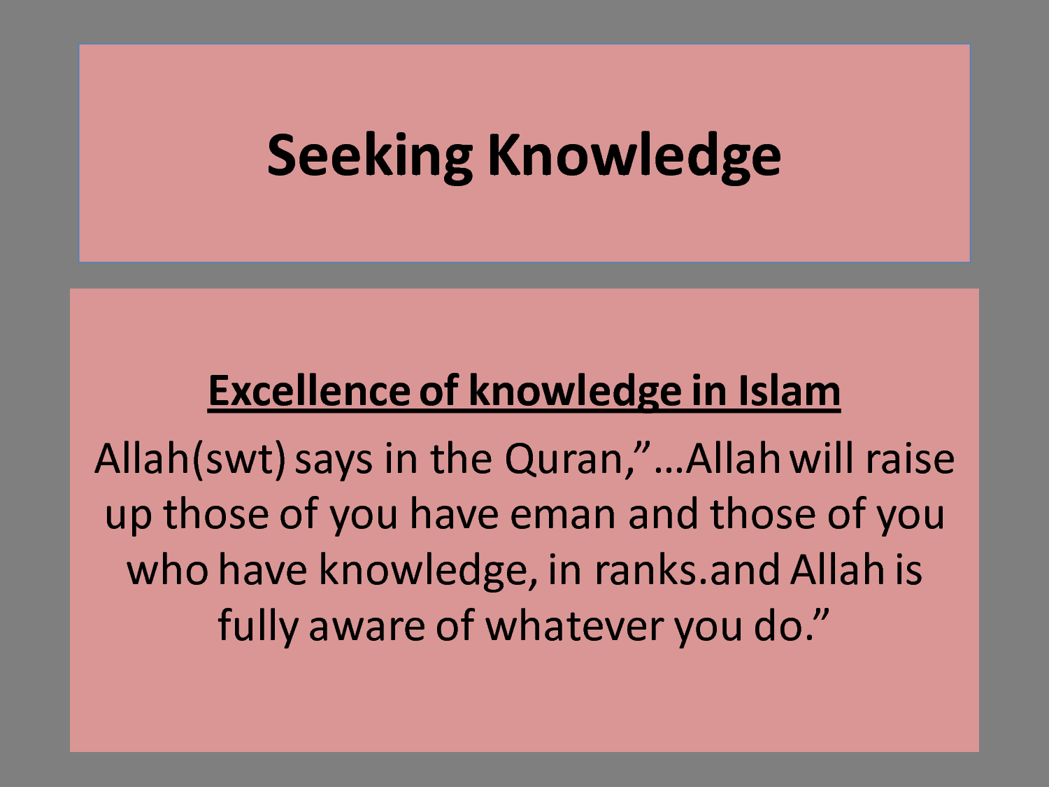 the importance of education in islam Importance of ict in education wwwiosrjournalsorg 5 | page the main purpose of the strategy for information and communication technology implementation in education.