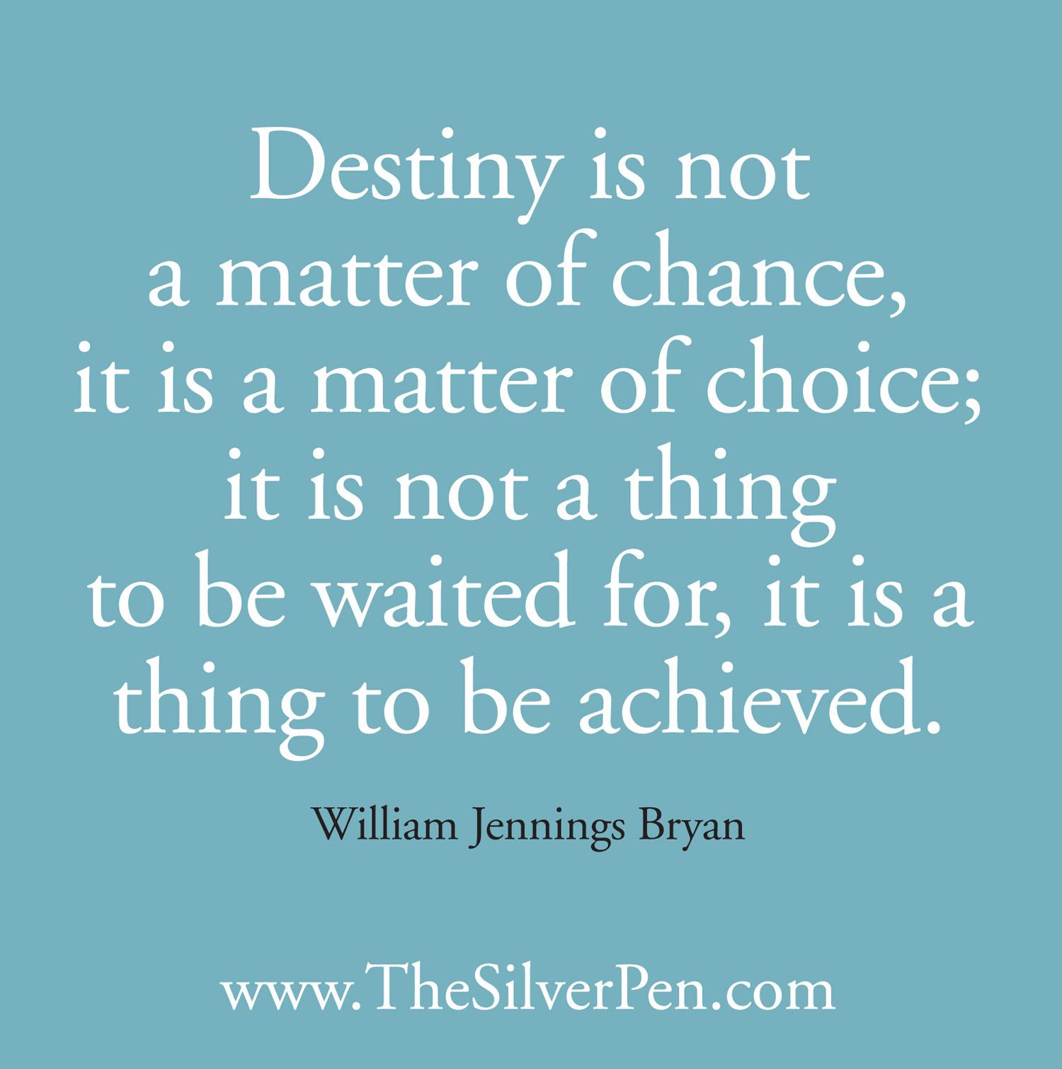 Follow Your Destiny Quotes. QuotesGram