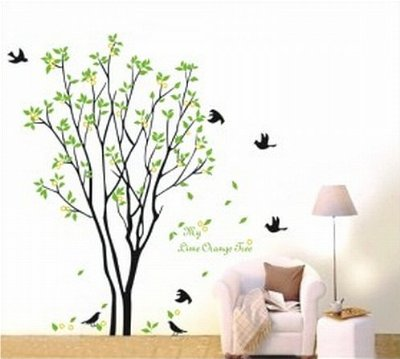 Living room wall decals quotes quotesgram - Sticker mural pissenlit ...