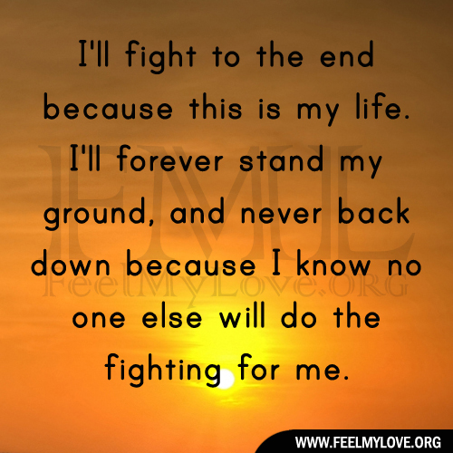 Quotes About Fighting Back. QuotesGram