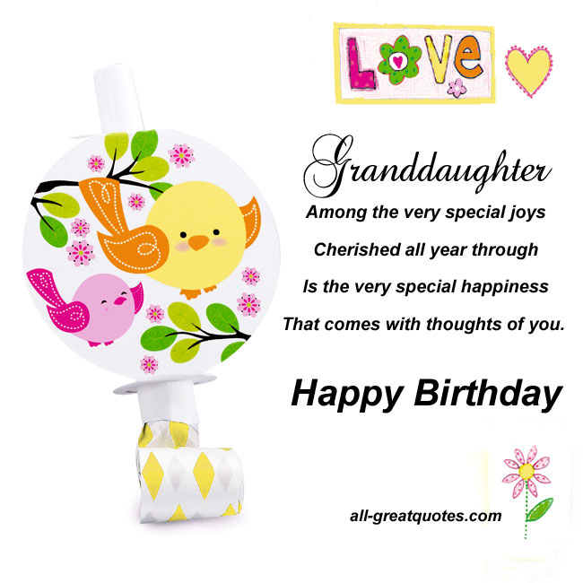 Birthday Quotes For Granddaughter. QuotesGram