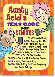 Outstanding Aunty Acid Grumpy Quotes Quotesgram Personalised Birthday Cards Cominlily Jamesorg