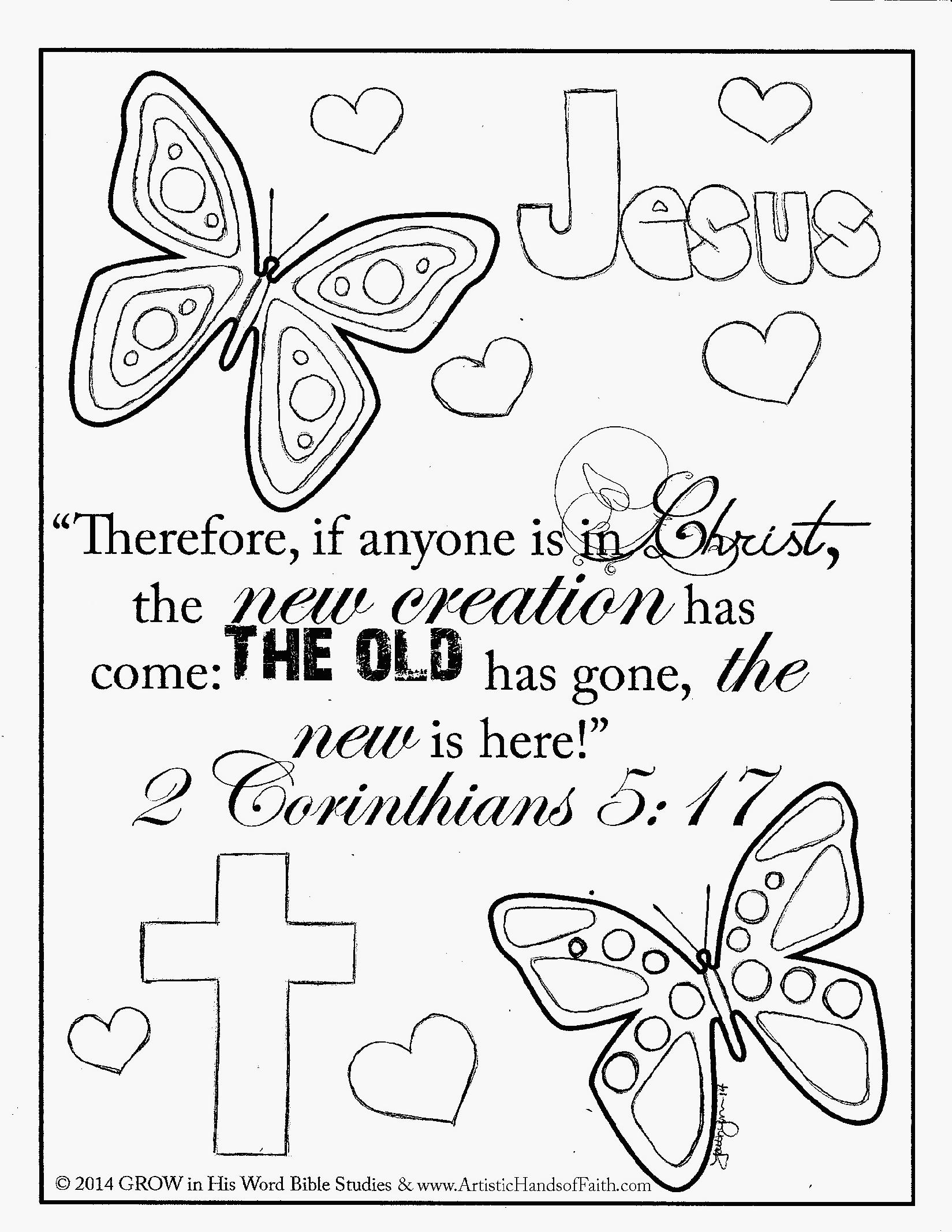 It is a photo of Handy Bible Verse Coloring Pages For Kids