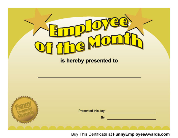 It's just an image of Employee of the Month Printable Certificate in template free