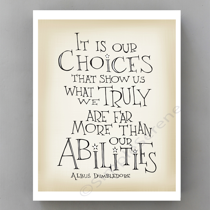 Harry Potter Quotes About Choices Quotesgram