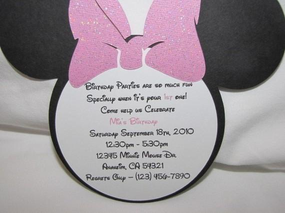 Minnie Mouse Birthday Invitation Template Postermywall