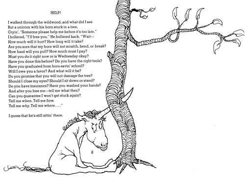 Short Shel Silverstein Quotes: Unicorn Poems And Quotes. QuotesGram