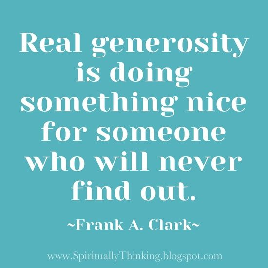 Inspirational Quotes About Positive: Generosity Quotes By Famous People. QuotesGram