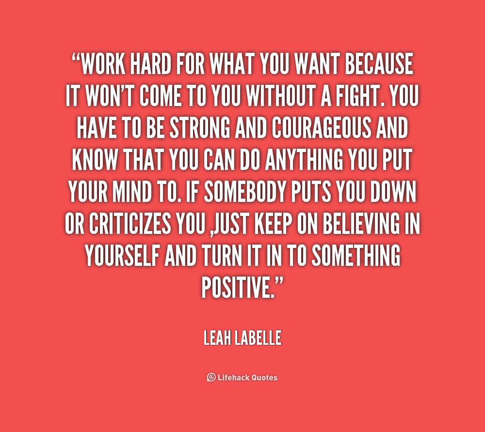 Fight Hard Work Quotes. QuotesGram