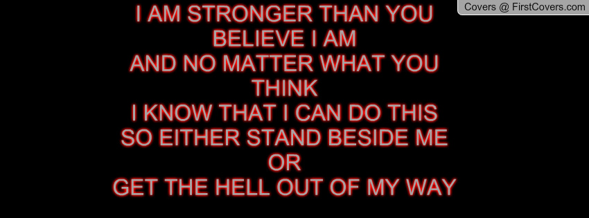 I Am Stronger Than You Think Quotes. QuotesGram