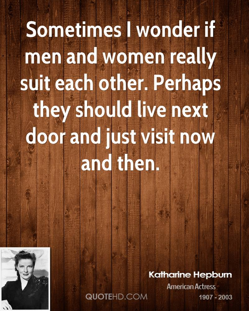 Quotes On Men And Women: Katharine Hepburn Quotes About Men. QuotesGram