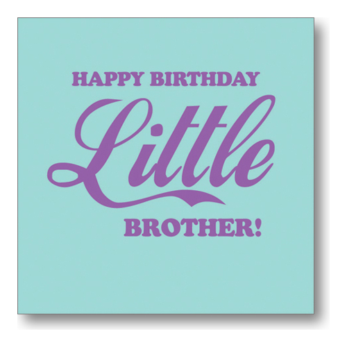 Happy Birthday Wishes To My Brother Quotes: Little Brother Birthday Quotes. QuotesGram