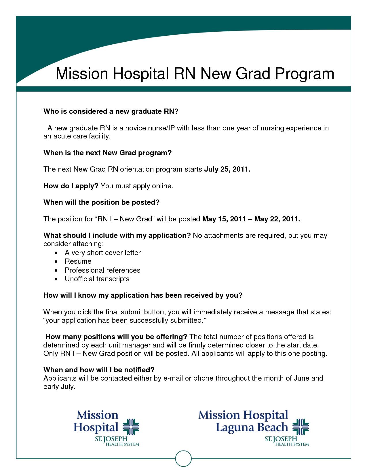 nurse graduate resumes