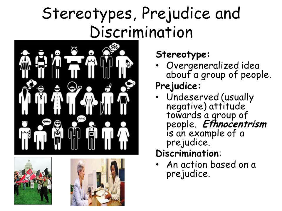 prejudice stereotyping and discrimination on the Test your understanding of details about prejudice, discrimination and stereotypes using an interactive quiz the printable worksheet is a great.