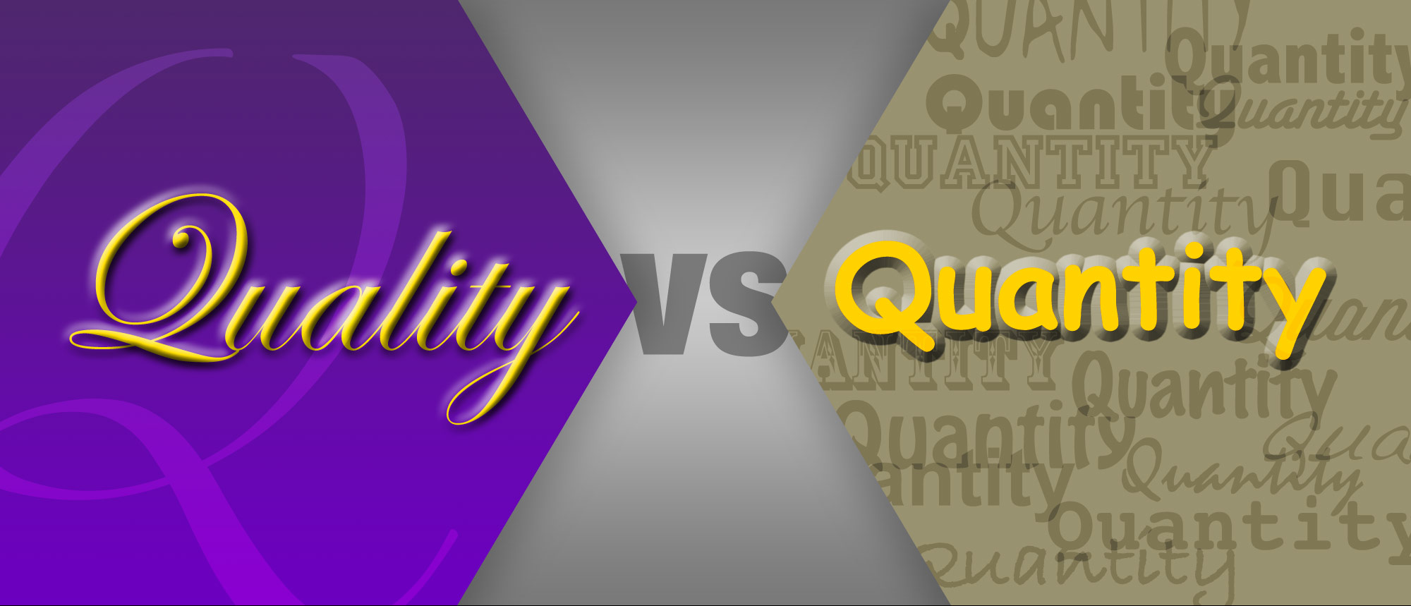 quantity vs quality essay Evaluating research quality guidelines for scholarship 22 february 2012  bias, provides guidelines for evaluating research and data quality, and describes.