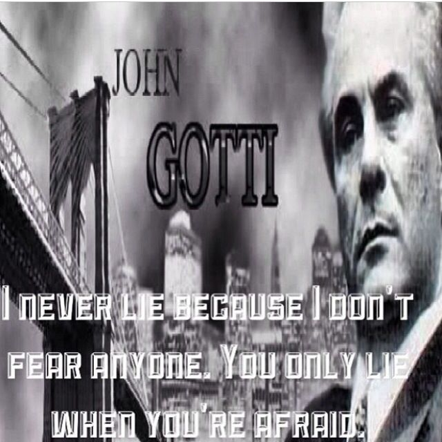 Quotes About Love For Him: John Gotti Gangster Quotes. QuotesGram