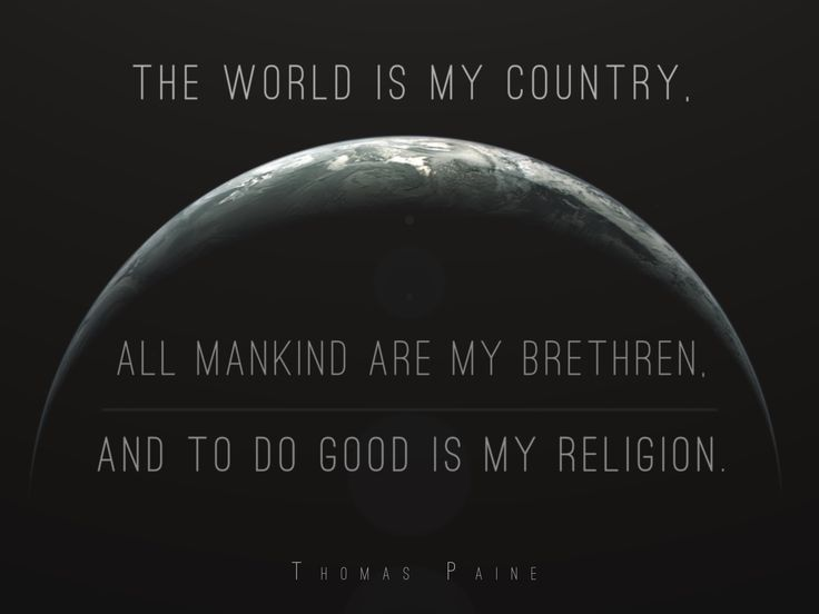 thomas paines philosophy on church ideology Thomas paine on the problem of religion and knowledge, the nature of thought, and the age of reason.