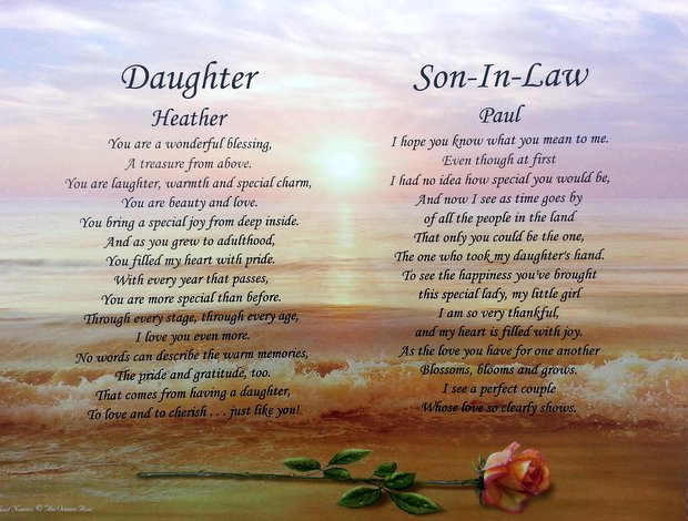 Daughter Son In Law Personalized Poem Christmas Gift: Father Daughter Wedding Day Quotes. QuotesGram