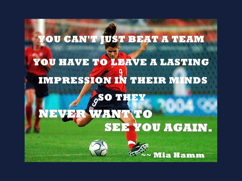 Mia Hamm Like A Girl Soccer Art Print, Girls Soccer ...  |Mia Hamm Soccer Quotes