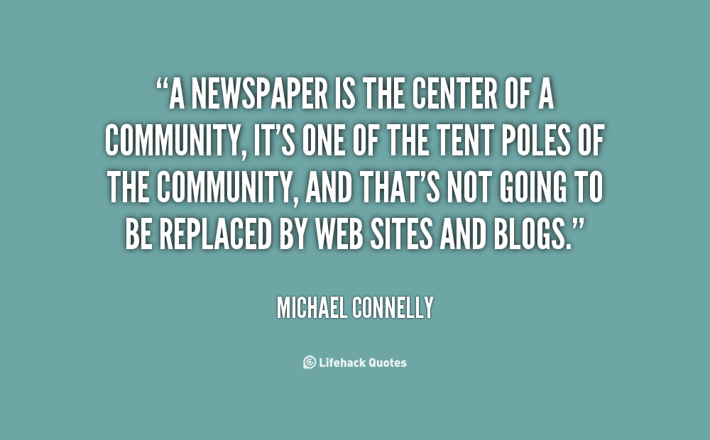 Quotes About Newspapers Quotesgram