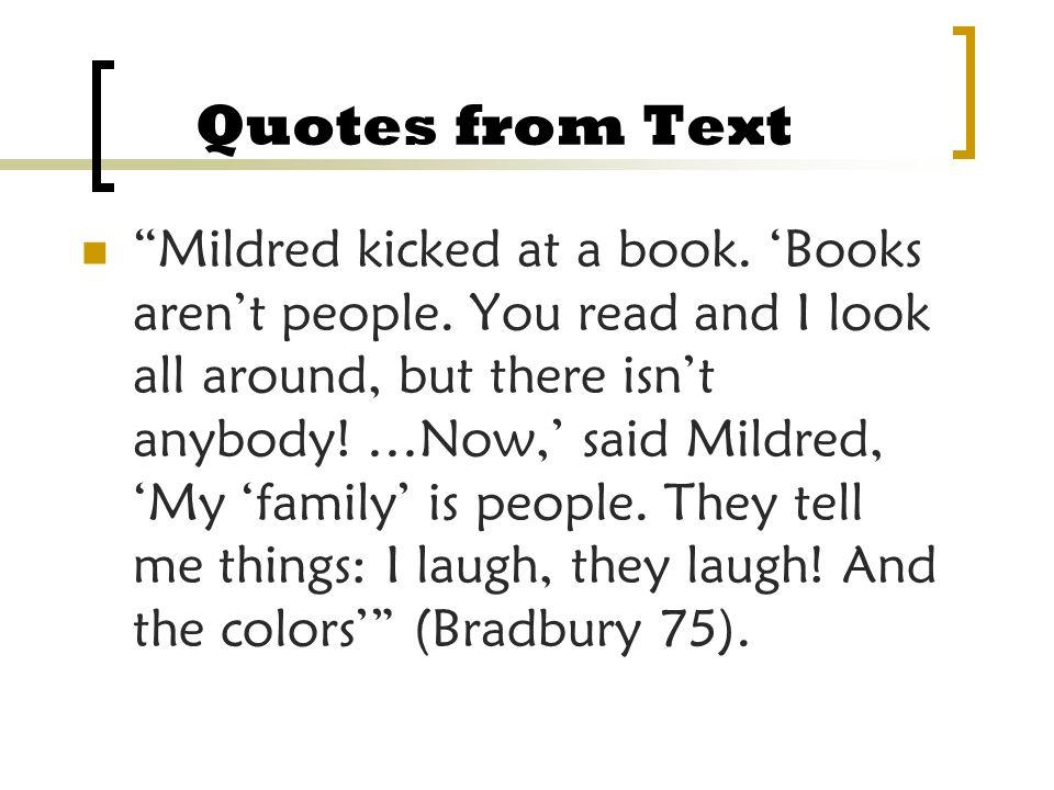 Fahrenheit 451 Quotes Mildred Television. QuotesGram