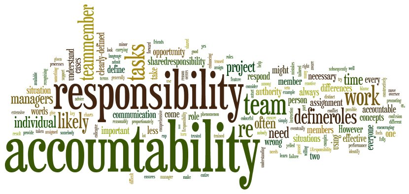 essay on responsibility and accountability Admission essay personal the importance of accountability paper and processes designed to make an entity justify and take responsibility for its.