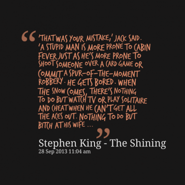 the shining stephen king quotes quotesgram