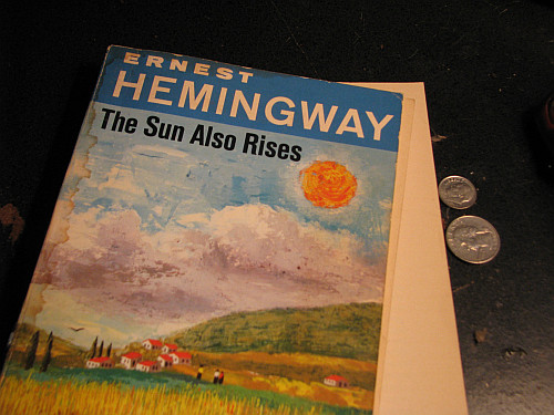 What are some themes in Hemingway's The Sun Also Rises that reflect Hemingway's thinking?