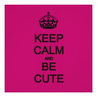 Be Calm Quotes QuotesGram #1: keep calm and be cute neon pink quote poster r29a27b25c5004dccb54a800b91f0b47b wh5 8byvr 324
