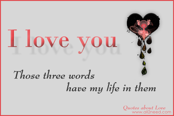 Pics Words Sayings: Three Word Quotes Love. QuotesGram
