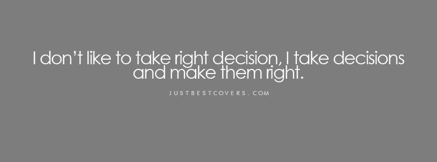 essay about making the right decisions Difficult decision essay examples decision making tools and techniques and its applications 1,183 words 3 pages an analysis of different decision-making models.