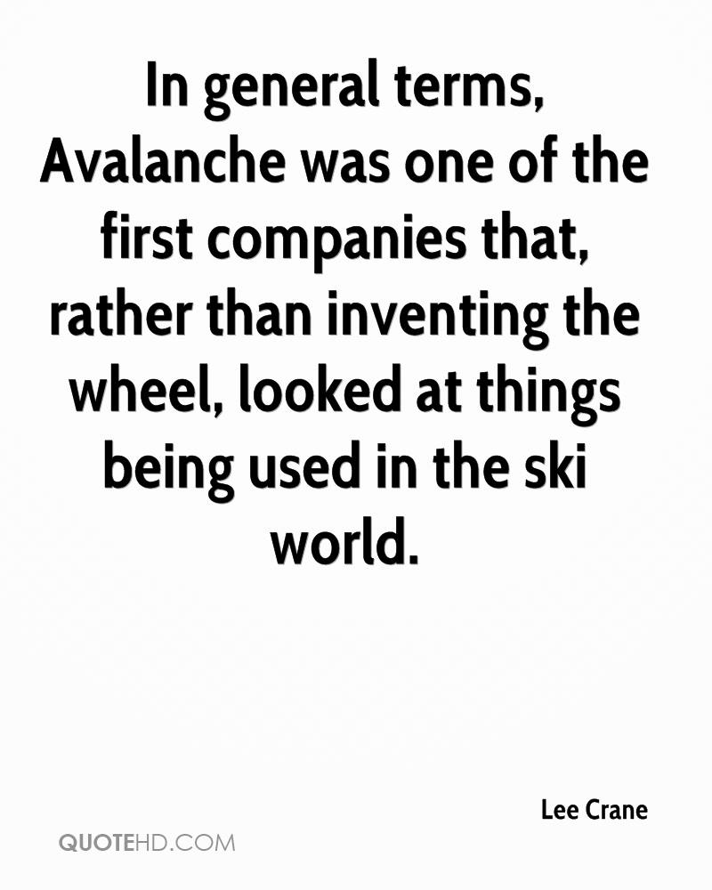 Famous avalanche quotes