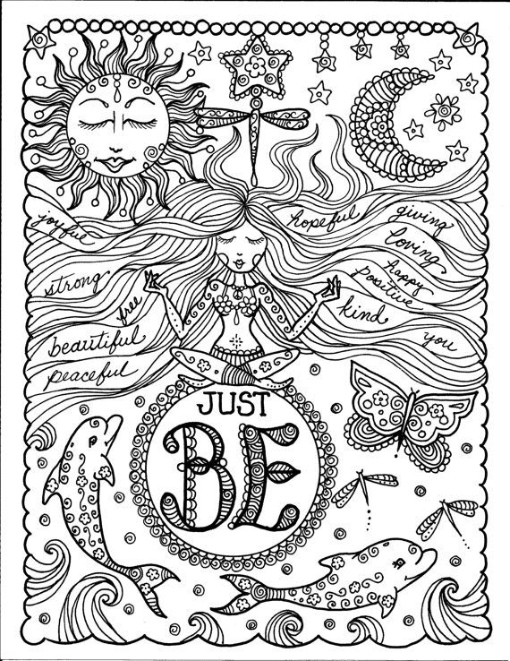 It's just a graphic of Unusual Free Printable Adult Coloring Pages Quotes