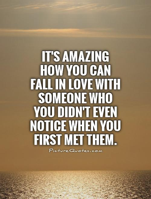 Love meet when fall in we someone and Can You