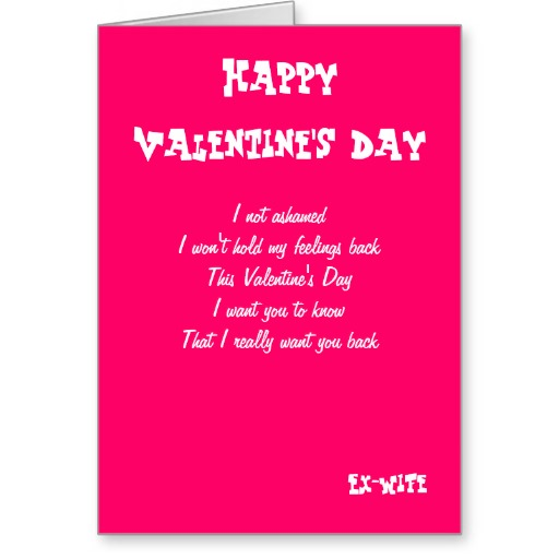 Valentines Day Quotes For Wife: Want My Ex Back Quotes. QuotesGram