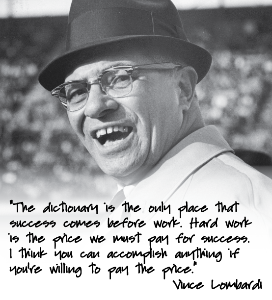 Vince Lombardi Quote: Vince Lombardi Quotes On Determination. QuotesGram