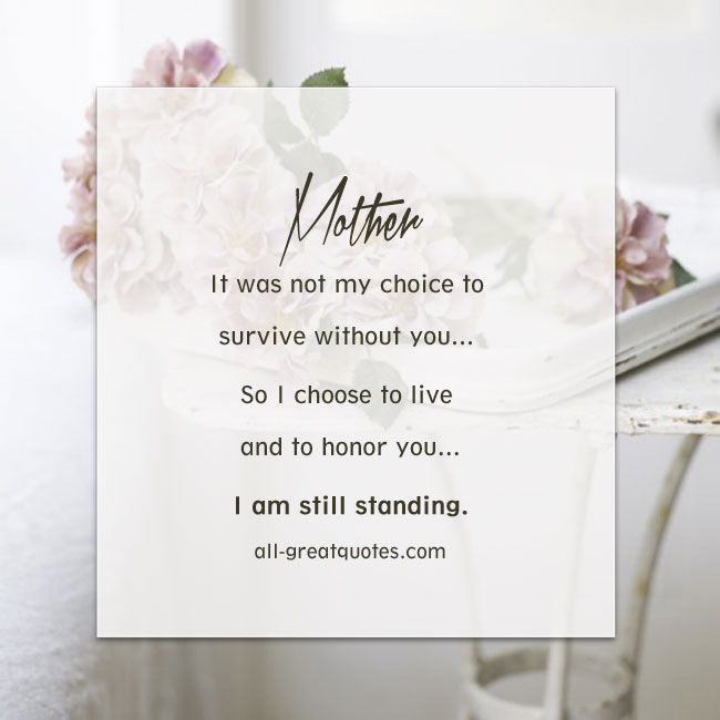 To My Mom Quotes: In Loving Memory Mother Quotes. QuotesGram