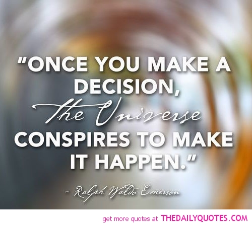 how to make a decision quotes