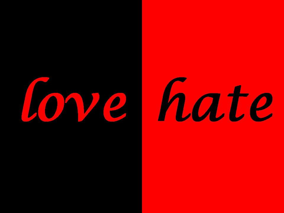 Quotes About Love Versus Hate : Quotes About Love Vs Hate. QuotesGram