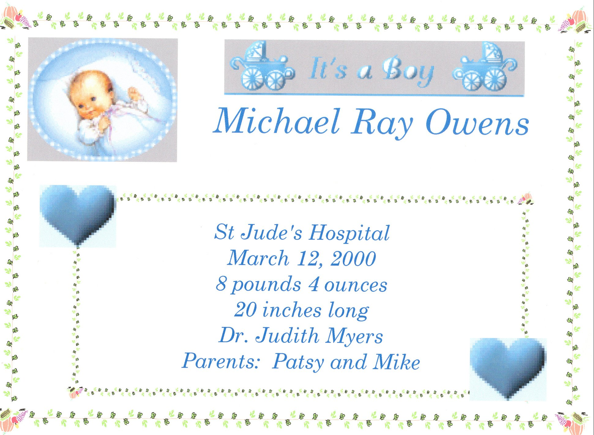 Baby boy quotes about birth quotesgram for Boy birth certificate template